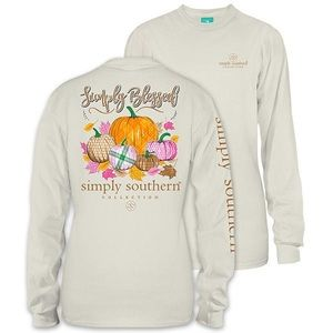 "Simply Southern ""simply blessed"" pumpkin top"